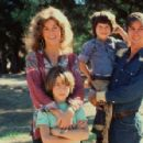 Jane Fonda and Tom Hayden with kids Vanessa Vadim and Troy Garity