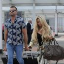 Bianca Gascoigne and boyfriend CJ Meeks Arrives at the airport in London - 454 x 355
