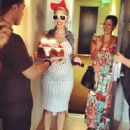 Amber Rose is Surprised with an Early Bday Party in Los Angeles, California - October 14, 2012