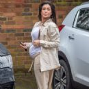 Casey Batchelor – Shows off her growing baby bump spotted out in Hertfordshire - 454 x 678
