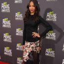 Zoe Saldana arrives The 2013 MTV Movie Awards