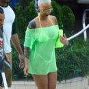 Amber Rose On Vacation In Miami
