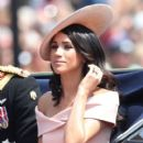 Prince Harry Windsor and Meghan Markle attend the 2018 Trooping the Colour ceremony - 400 x 600