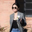 Lucy Hale – Out for a cup of Joe at Alfred Coffee in Studio City