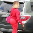Khloe Kardashian in Red at a local studio in Los Angeles - 454 x 681