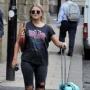 Lucy Fallon in Ripped Jeans – Out in Manchester - 454 x 703