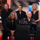 Joe Elliott of Def Leppard speaks during the press conference for THE STADIUM TOUR DEF LEPPARD - MOTLEY CRUE - POISON at SiriusXM Studios on December 04, 2019 in Los Angeles, California - 454 x 326