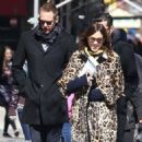 Alexa Chung & Alexander Skarsgard Out And About In NYC ( March 23, 2017) - 454 x 549