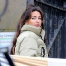 Michelle Keegan – on the set of 'Brassic' in Lancashire - 454 x 358