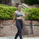 Olympia Valance in Tights at Runyon Canyon in LA
