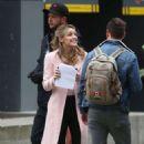"Melissa Benoist – ""Supergirl"" Set in Vancouver 03/07/2019 - 454 x 659"