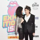 Sally Humphreys and Ronnie Wood attend The Rolling Stones - Exhibitionism Opening Night at Industria Superstudio on November 15, 2016 in New York City - 399 x 600
