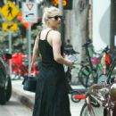 Amber Heard in Long Black Dress – Out in Santa Monica