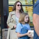 Angelina Jolie Shopping With Daughters In Los Angeles  (September 04, 2019) - 454 x 514