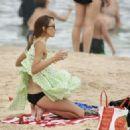 Rebecca Judd in Black Bikini on holiday in Noosa - 454 x 324