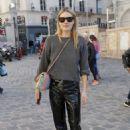 Camille Rowe – Arriving at Etam Fittings at Paris Fashion Week - 454 x 681