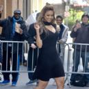 Tyra Banks in Mini Dress – Leaves The View in New York - 454 x 681