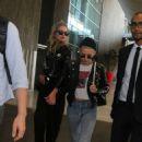 Kristen Stewart and Stella Maxwell at Charles de Gaulle airport in Paris