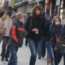 Helena Christensen shopping in the West Village
