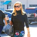 Reese Witherspoon in Floral Skirt – Heads to work in LA