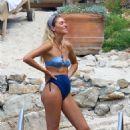 Jessica Hart in Blue Bikini – On a Photoshoot Cannes - 454 x 681