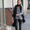Nicollette Sheridan spotted out with her dog in Beverly Hills, California on January 7, 2016 - 419 x 600