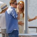 Aboard Steven Spielberg's yacht in Cannes, France today (May 17).