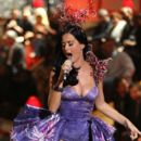 Katy Perry rocks the stage as she performs live at the 2010 Victoria's Secret Fashion Show held in Manhattan