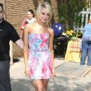 Chelsea Kane was spotted leaving Live With Regis And Kelly today, May 26.