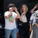 Sophie Turner and Joe Jonas – Out for some lunch in Barcelona - 454 x 473