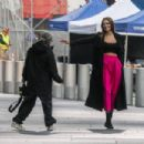 Josephine Skriver – On the set of campaign for Maybelline in New York - 454 x 303
