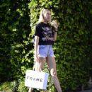 Jessica Hart in Denim Shorts out in LA - 454 x 526