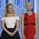 Amy Schumer and Jennifer Lawrence : Golden Globe Awards 2016