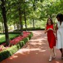 Queen Letizia receives Michelle Obama at Zarzuela Palace - 454 x 303
