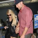 Jessica Simpson Catching A Flight At Washington Dulles Airport