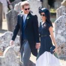 Meghan Markle and Prince Harry – Leaving Daisy Jenks and Charlie Van Straubenzee's wedding in Surrey