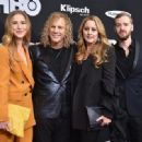 David Bryan of Bon Jovi, and family attend the 33rd Annual Rock & Roll Hall of Fame Induction Ceremony at Public Auditorium on April 14, 2018 in Cleveland, Ohio - 454 x 331