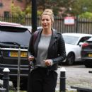 Gemma Atkinson – Arriving at Hits Radio in Manchester - 454 x 740