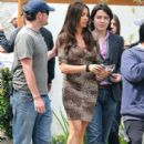 Sofia Vergara on the set of 'Modern Family' in Los Angeles, CA. Also on set was Sofia's son Manolo Gonzalez. March 17 2011