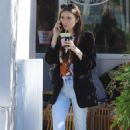Lily Collins at Cha Cha in West Hollywood - 454 x 681