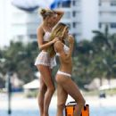 Elsa Hosk and Josephine Skriver on a Commercial Shoot in Miami - 454 x 579