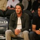 David Beckham Watches Lakers Top Clippers in Battle of LA