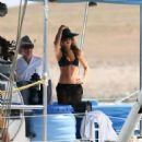Abbey Clancy – Swimwear Photoshoot For 'Britain's Next Top Model' on Yacht in Cape Verde - 454 x 512