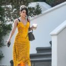 Vanessa Hudgens in Yellow Summer Dress in Los Angeles