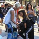 Zendaya Coleman is seen shopping with her mom and dog at the Grove in Los Angeles, California on August 12, 2016 - 454 x 577