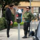 Pete Wentz is spotted out for lunch in Studio City, California with a friend on January 9, 2017 - 454 x 337