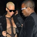 Amber Rose and Kanye West Attend Galiano Fashion Fall 2010-11 Collection Presented During Men's Fashion Week in Paris, France - January 22, 2010