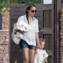 'Black Swan' actress Natalie Portman steps out with her son Aleph in Los Angeles, California on August 15, 2013