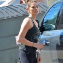 Ashley Greene In Tights While Out In West Hollywood