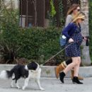 Anna Paquin taking her dog for a walk in Venice, CA (August 24) - 454 x 400